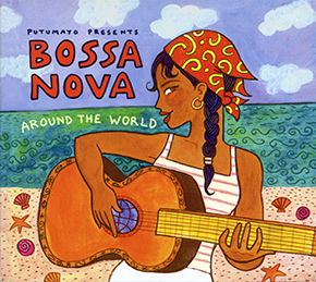 Bossa nova around the world CD cover.