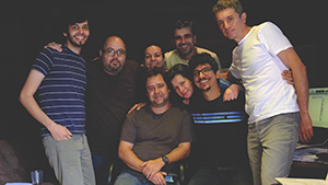 Grupo Fato in the studio.